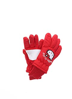 Gants rouge HELLO KITTY pour fille