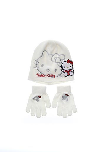 Bonnet blanc HELLO KITTY pour fille