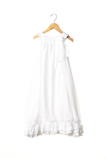 Robe mi-longue blanc PASSANELA pour fille
