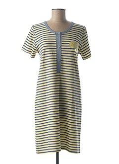 Chemise de nuit jaune BLEU ROY pour femme
