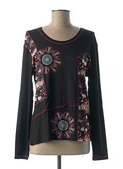 T-shirt manches longues noir GRIFFON pour femme