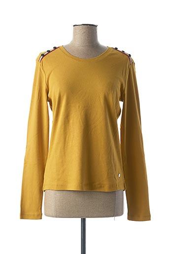 T-shirt manches longues jaune THALASSA pour femme