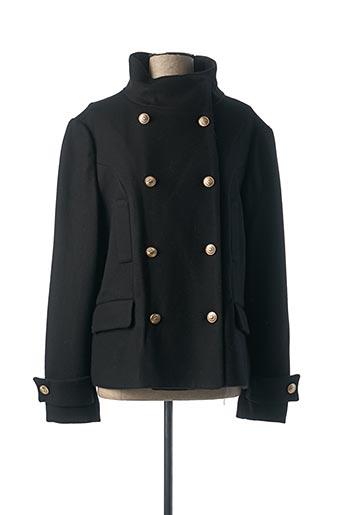 Manteau court noir THALASSA pour femme