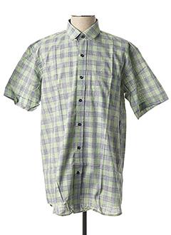 Chemise manches courtes vert LOUIS VICTOR pour homme
