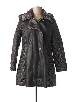 Manteau court noir JEAN DELFIN pour femme