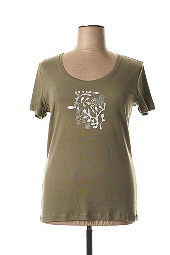 T-shirt manches courtes vert THALASSA pour femme