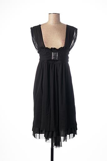 Robe mi-longue noir POUSSIERE D'ETOLE pour femme