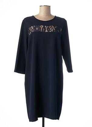 Robe mi-longue bleu POUSSIERE D'ETOLE pour femme