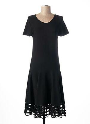 Robe mi-longue noir LAUREN VIDAL pour femme