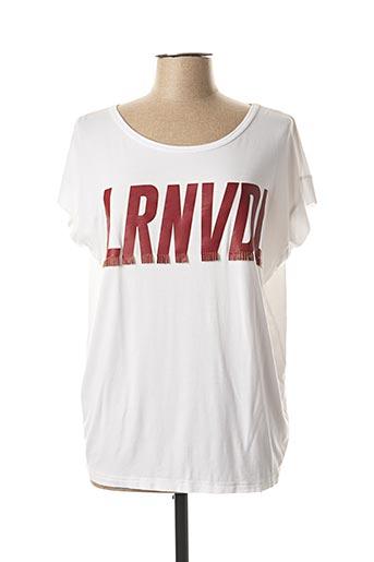 T-shirt manches courtes blanc LAUREN VIDAL pour femme