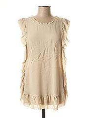 Blouse manches courtes beige TWIN-SET SIMONA BARBIERI pour femme seconde vue