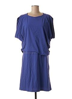 Robe mi-longue bleu CASSIOPEE pour femme