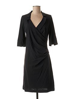 Robe mi-longue noir CASSIOPEE pour femme