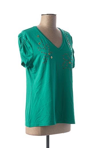 T-shirt manches courtes vert DIVAS pour femme