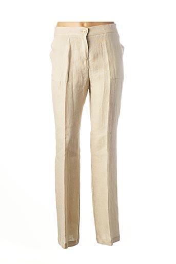 Pantalon chic beige ELEONORA AMADEI pour femme