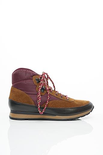 Bottines/Boots rouge BENSIMON pour femme