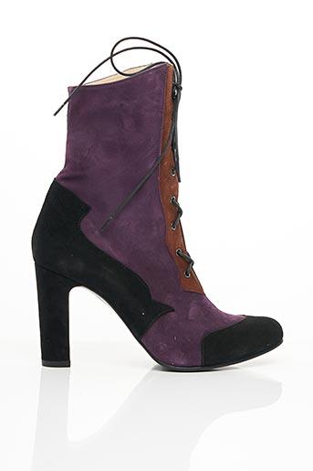 Bottines/Boots violet ANNA VOLODIA pour femme