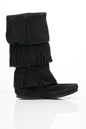 Bottes noir MINNETONKA pour femme