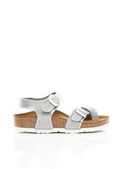 Sandales/Nu pieds gris BIRKENSTOCK pour fille