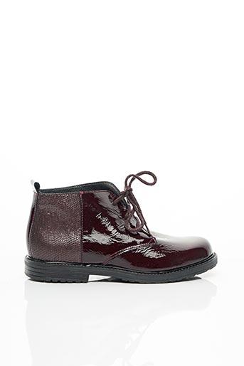 Bottines/Boots rouge BOPY pour fille
