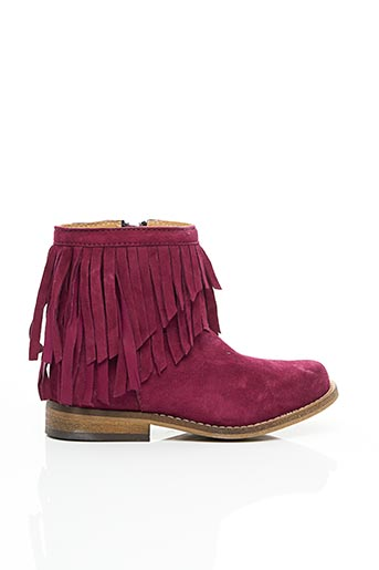 Bottines/Boots rouge MELLOW YELLOW pour fille