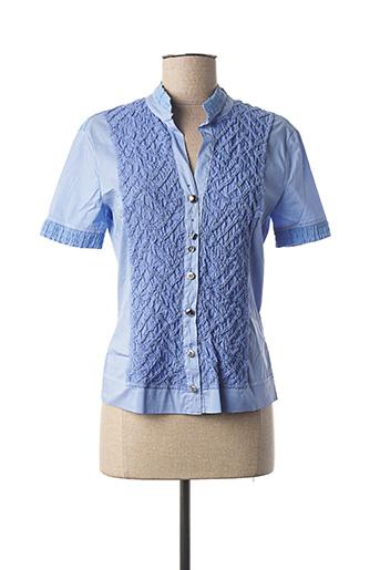 Chemisier manches courtes bleu ELISA CAVALETTI pour femme