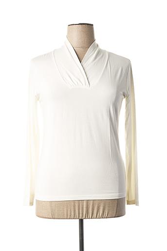 T-shirt manches longues blanc EVALINKA pour femme
