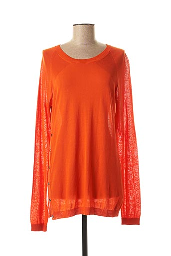 Pull col rond orange SPORTMAX pour femme