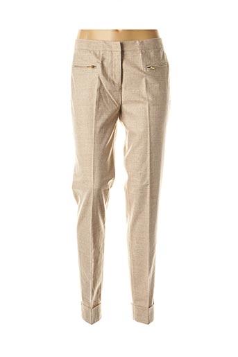 Pantalon chic beige FABIANA FILIPPI pour femme