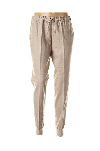 Pantalon casual beige FABIANA FILIPPI pour femme