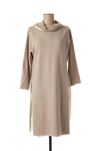 Robe pull beige FABIANA FILIPPI pour femme