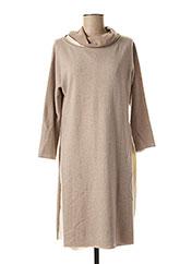 Robe pull beige FABIANA FILIPPI pour femme seconde vue