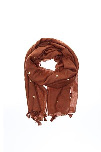 Foulard marron PIECES pour femme