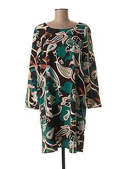 Robe mi-longue vert COMPAÑIA FANTASTICA pour femme