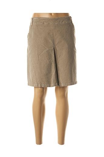 Jupe courte beige MAE MAHE pour femme