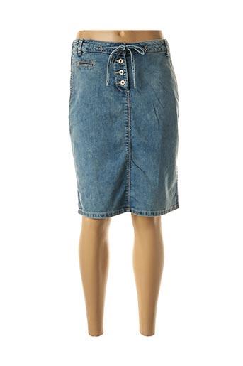 Jupe mi-longue bleu SANDWICH pour femme