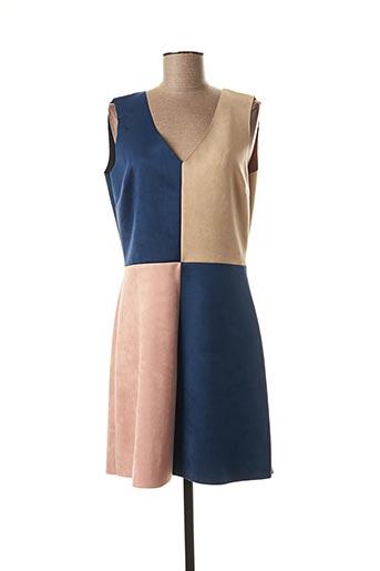 Robe mi-longue bleu FILLE A SUIVRE pour femme