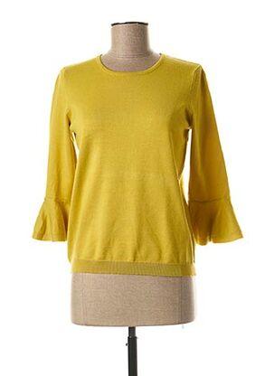 Pull col rond jaune COMPAÑIA FANTASTICA pour femme