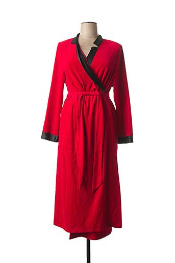Robe de chambre rouge REGENCE pour femme