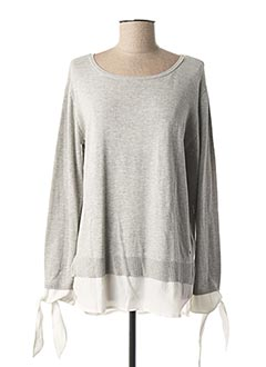 Pull tunique gris JOCAVI pour femme