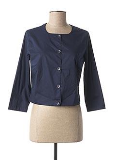 Veste casual bleu AVENTURES DES TOILES pour femme