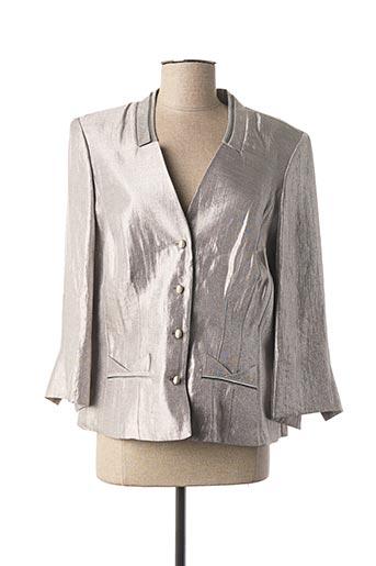 Veste casual gris CHRISTINE LAURE pour femme