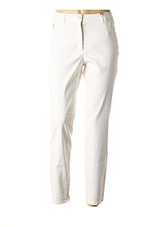 Pantalon 7/8 blanc JOCAVI pour femme