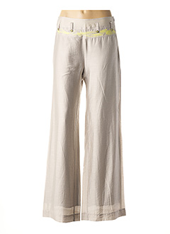 Pantalon casual beige AVENTURES DES TOILES pour femme