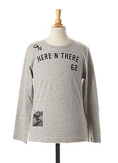 T-shirt manches longues gris TOM TAILOR pour garçon