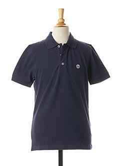 Polo manches courtes bleu TIMBERLAND pour garçon