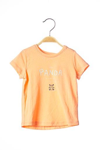 T-shirt manches courtes orange TOM TAILOR pour fille