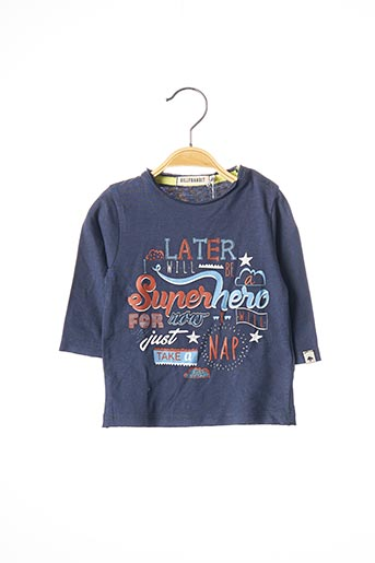 T-shirt manches longues bleu BILLYBANDIT pour garçon