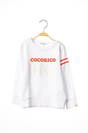 Sweat-shirt blanc BILLYBANDIT pour garçon