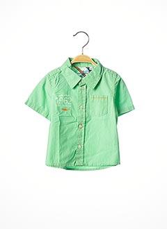 Chemise manches courtes vert TOM TAILOR pour garçon